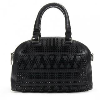 Christian Louboutin black studded panettone bowling bag