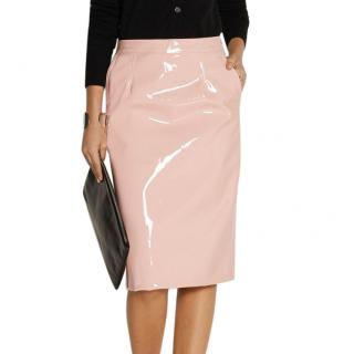 Marc by Marc Jacobs pink vinyl pencil skirt