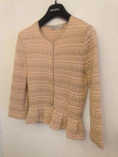 Dior Peach Tricot Fitted Jacket