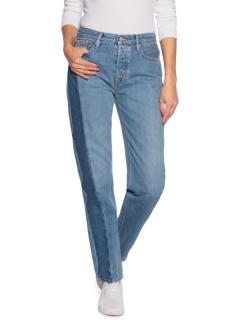 Calvin Klein Jeans straight high rise two-tone jeans
