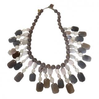 Lola Rose Grey Semi Precious Collar Necklace