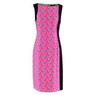 Giles Screw Pois Pink Printed Dress