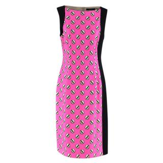 Giles Screw Pois Pink Printed Dress