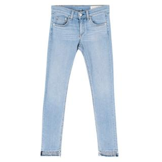 Rag & Bone Blue Denim Mid-Rise Ankle Skinny Jeans