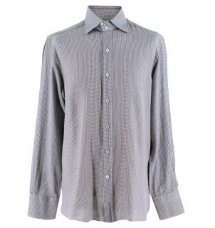 Tom Ford Men's Mini Houndstooth Shirt