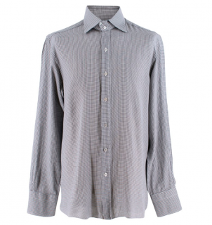 Tom Ford Men's Mini Houndstooth Shirt