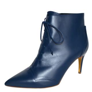 Rupert Sanderson Evelyn Navy Blue Calf Leather boots