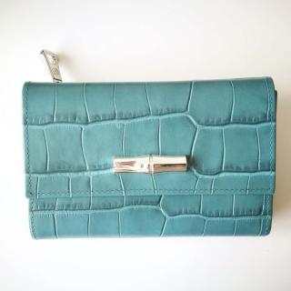 New Longchamp Jade Roseau Compact Wallet