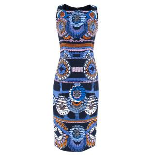 Peter Pilotto Blue Printed Midi Dress