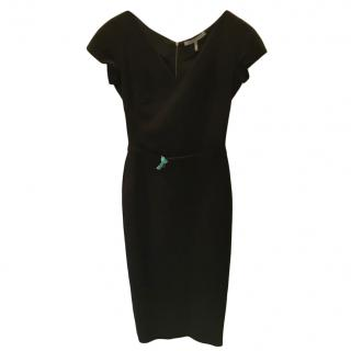 Victoria Beckham Black Belted Dress