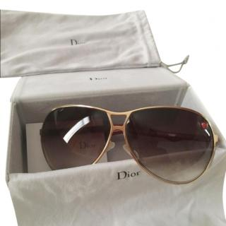 Dior Red Dior Tiny Aviator Sunglasses