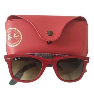 Rayban Red Wayfarer Special Series Sunglasses