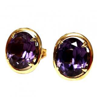 Vintage Alexandrite earrings in rose gold