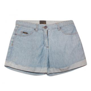 Fendi Girl's Denim Shorts