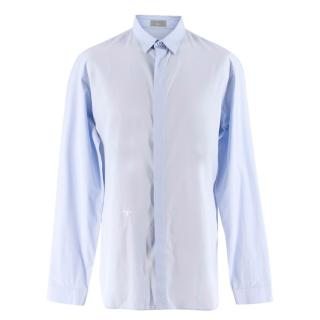 Dior Homme Blue Dress Shirt with Bee Embroidery