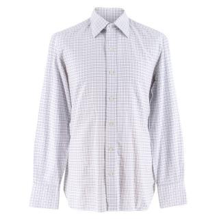 Tom Ford Blue & White Check Shirt