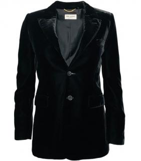 Saint Laurent Black Velvet Blazer