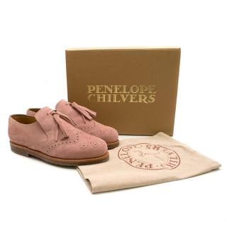 Penelope Chilvers Camber Suede Shoes in Rose Pink