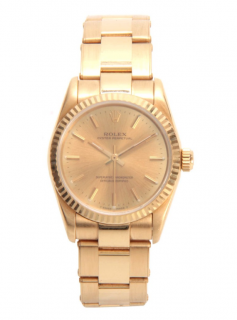 Rolex Oyster Perpetual 67518 18k Yellow Gold Watch