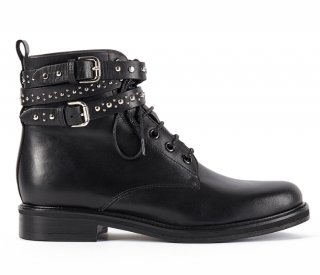 Maje Flint Black Leather Ankle Boots