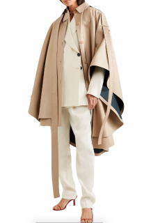 Loewe Convertible asymmetric cotton gabardine cape - current season