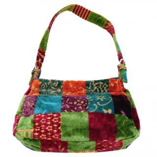 Etro Velvet Brocade Patchwork Bag