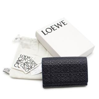 Loewe Repeat Small Vertical Wallet in Navy Blue