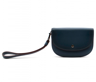 Coach Blue Leather Wristlet