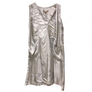 Marni Silver Sleeveless Rose print Dress