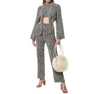 Loewe Grey Cropped Lurex Sweater