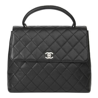 Chanel Black Caviar Leather Kelly Bag