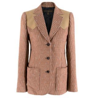 Louis Vuitton Wool Houndstooth Chevron Jacket
