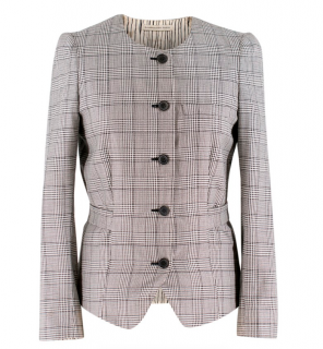 Balenciaga Houndstooth Belted Jacket