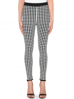Balmain Monochrome Harlequin Trousers
