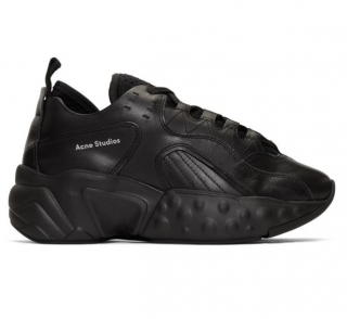 Acne Studios Leather black manhattan sneakers