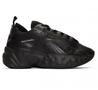 Acne Studios Leather black manhattan sneakers