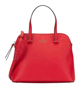 Kate Spade Patterson Drive Medium Dome Hot Chili Red Leather Bag