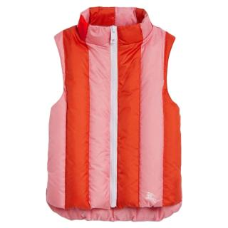 Burberry Girls Striped Down Padded Ardelle Gilet