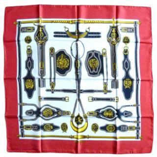 Hermes Harnais de la Presidence Vintage Silk Scarf 90
