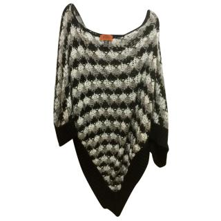 Missoni Black & White Open Knit Poncho