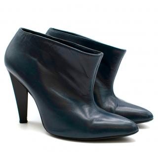 Balenciaga Navy Cone Heel Ankle Boots