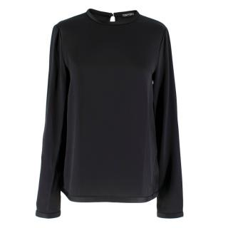 Tom Ford Black Blouse w/ Long Sleeves