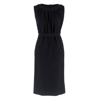 Fendi Black Sleeveless Draped Back Dress