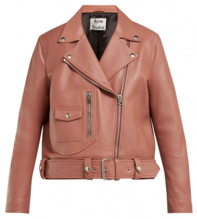 Acne Studios New Merlyn Blush Nude Leather Jacket
