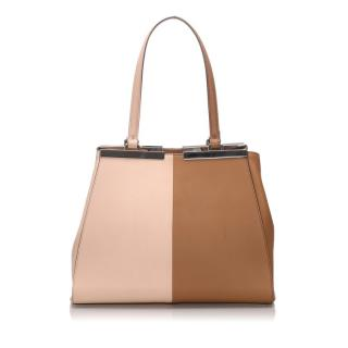 Fendi Medium Bi Color Leather 3Jours