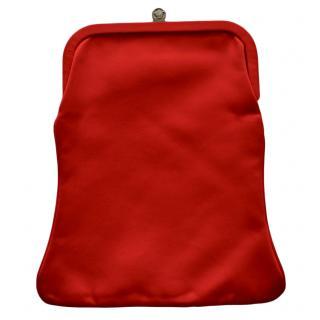 Gianni versace Vintage Red Silk Clutch