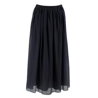 S'Max Mara Navy Livia Skirt