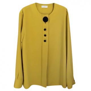 Balenciaga Mustard Button Down Blouse
