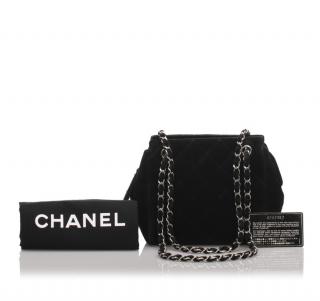 Chanel VIntage Suede Chain Shoulder Bag