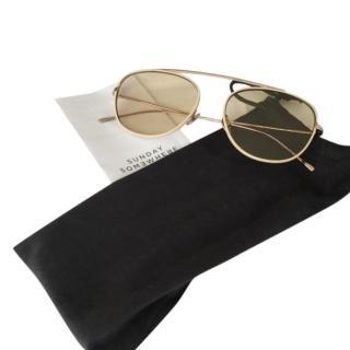 Sunday Somewhere Rose Gold Aviator Sunglasses